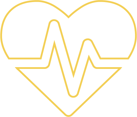 Heart with lifeline icon