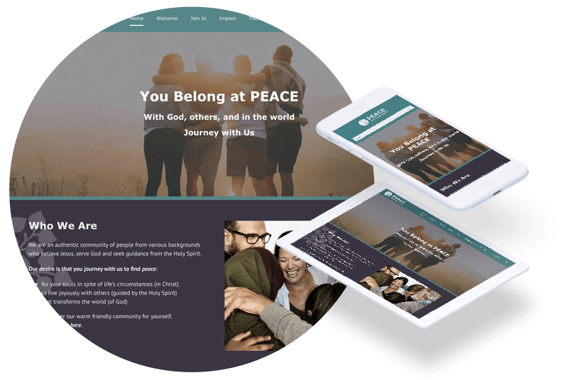 Peace Community Church Homepage Redesign