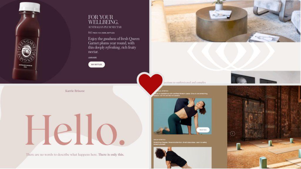 Featured design screenshots for June 2020